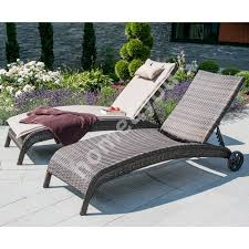 deck chair wicker 73x196x99cm aluminum frame with plastic wicker
