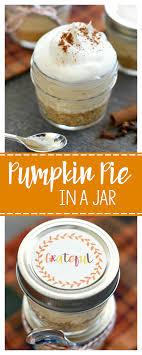 mini dessert for thanksgiving pumpkin pie in a jar squared