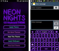 go keyboar apk go keyboard purple neon theme apk version 1 2 3
