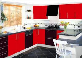 Black Kitchen Designs Photos with Black And Red Kitchen Designs With Worthy Black And Red Kitchen