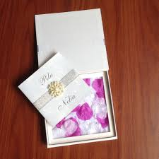 boxed wedding invitations boxed wedding invitations with petal