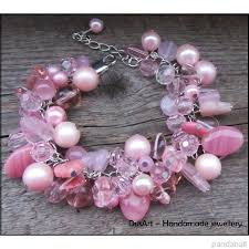 pink glass bead bracelet images Gorgeous glass beads jewelry designs from pandahall customers jpg
