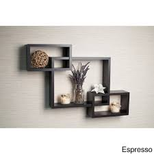 Wall Shelves Pepperfry by Laminate Intersecting Rectangles Wall Shelf By Danya B Accent