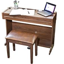 blue writing desk chase cdp 160 digital electric piano desk in colour black brown