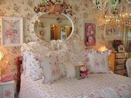 artistic romantic shabby bedroom pink flowersy bedspread
