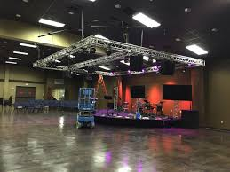 floor mounted stage lighting trussing support dpc event services