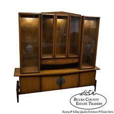 China Cabinet Modern Walnut Mid Century Modern Antique Cabinets Ebay
