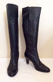 s boots calf length hilfiger black leather calf length boots size us 9 5 uk 7