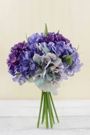hydrangea bouquet bouquet purple 9 5in