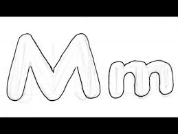 how to draw bubble writing real easy letter m youtube
