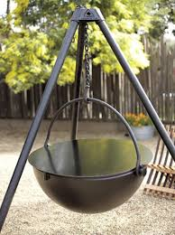 cowboy fire pit outdoors cowboy cauldron from napa style gardenista