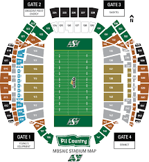 Coors Field Map View Your Seats Saskatchewan Roughriders