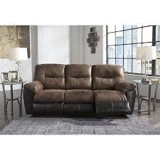 ashley follett reclining faux leather sofa in coffee 6520288