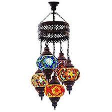 Turkish Chandelier Turkish Authentic 5 Globe Mosaic Chandelier Mosaic L Moroccan
