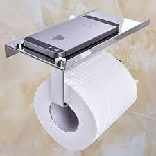 Bathroom Tissue Storage Cuh Toilet Paper Holder With Mobile Phone Storage