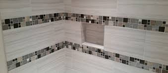 Crackle Subway Tile Backsplash by Crackle Subway Tile Kitchen Transitional With Maple Square Mosaic
