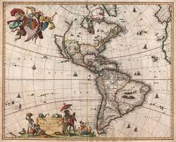 North America South America Map by File 1658 Visscher Map Of North America And South America