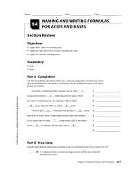 naming acids and bases worksheet answers free worksheets library
