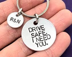 personalized keychain gifts trucker keychain etsy