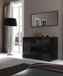 Nightfly White Bedroom Vanity Set Rossetto Nightfly Black Finish Modern Platform Bed