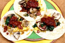 cuisine am icaine breakfast tacos with spinach bacon the quotable kitchen