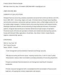 finance resume examples u2013 inssite