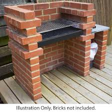 Outdoor Brick Fireplace Grill by Xl Brick Bbq Diy Kit Charcoal Barbecue Chrome Grill Two Sizes