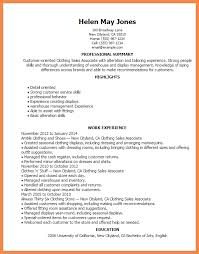 Sample Resume For Clothing Retail Sales Associate by Sales Associate Resume Resume Name