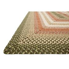 Turquoise Rug 5x7 D69 Green And Orange Braided Rug 5x7 Ft At Home At Home