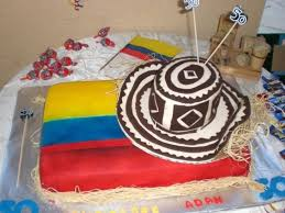 Flag Cakes Colombian Hat And Flag Cake Cakecentral Com