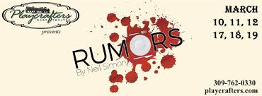 Playcrafters Barn Theatre The U0027rumors U0027 Are True This Show Is Hilarious Quad Cities