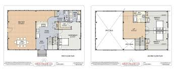 barn floor plans for homes our most popular timber frame vacation home floor plans