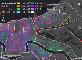 Map Of New Orleans Usa by New Study Maps Rate Of New Orleans Sinking Nasa