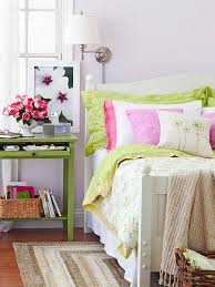 Pink And Lime Green Bedroom - decorating with purple