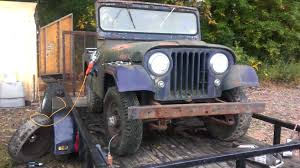 wwii jeep engine 1961 willys cj5 youtube