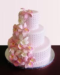 pink orchids cascade wedding cake cmny cakes