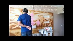 hand painted wall mural artist in mumbai youtube hand painted wall mural artist in mumbai