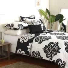 Kohls Bed Set by Damask 3 Pc Reversible Duvet Cover Set Black Damasks