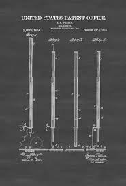 billiard cue patent 1914 billiard room decor patent print wall