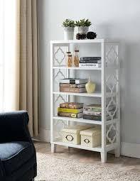 bookcase white wood white wood contemporary 4 tier shelf storage