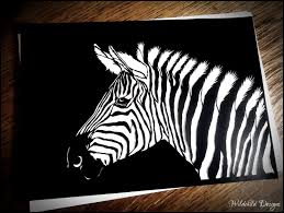 zebra paper cutting template zoo animal wildlife realistic