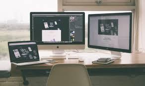 Computer Desk Wallpaper Businessmen Freelance Black White Books Computer Desk