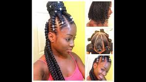 pronto braids hairstyles half up half down goddess feed in braids beginner friendly