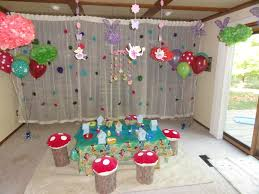 birthday party decorations ideas at home interior design garden theme party decorations wonderful
