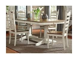 liberty furniture springfield dining double pedestal table with