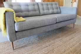 mid century ikea hack ikea karlstad hack tufted cushions midcentury style legs home