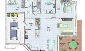 plan maison 100m2 3 chambres wonderful plan maison plain pied 100m2 2 constructeur les et