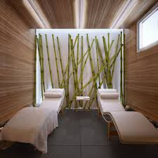 great relax and spa room design with comfortable furniture and