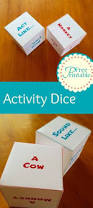 printable activity dice animal dice games for kids dice free