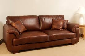 Aniline Leather  Seater Sofa Oak Furniture Solutions - Leather 3 seat sofa